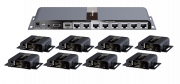 1 x 8 HDMI splitter over single CAT 6